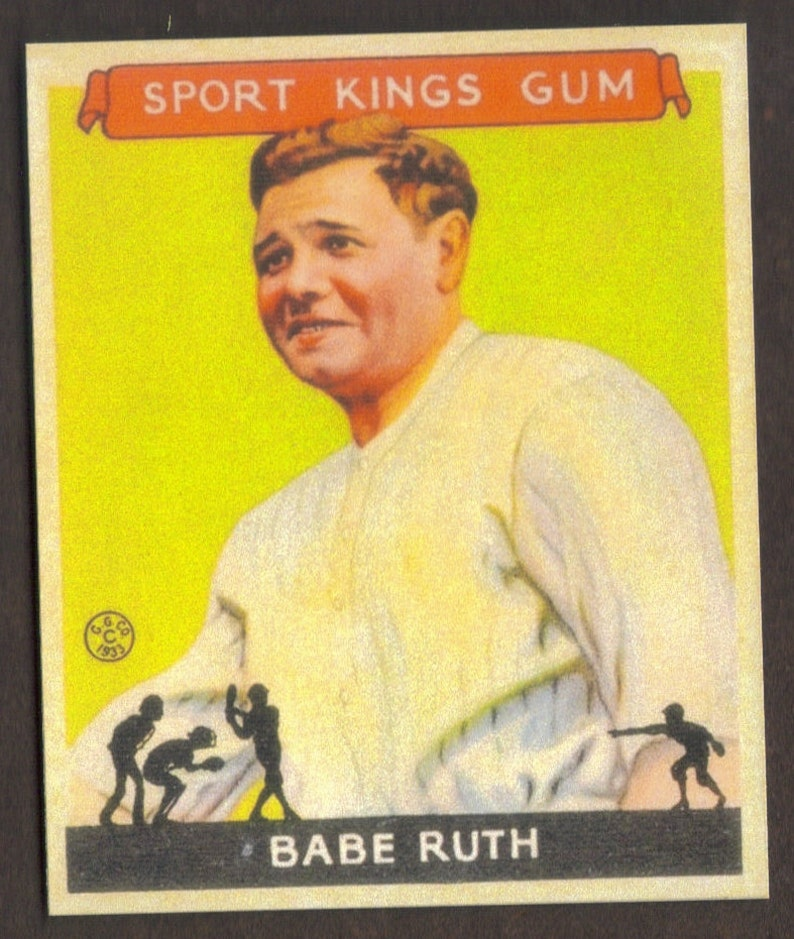 BABE RUTH RP #2 Sport Kings Yankees 1933 G Free Shipping