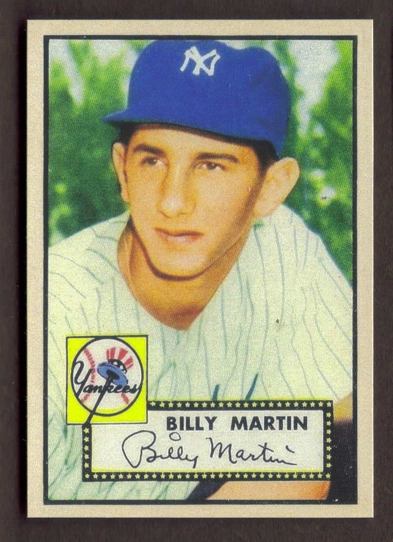 Billy Martin Rookie Rp 175 Yankees 1952 T Free Shipping