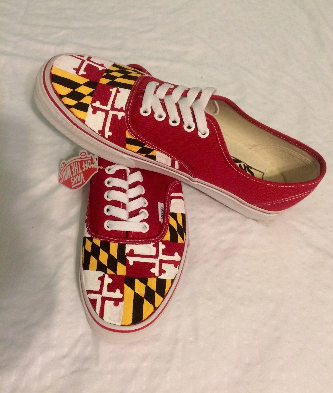 727ce19105 Maryland Flag Vans