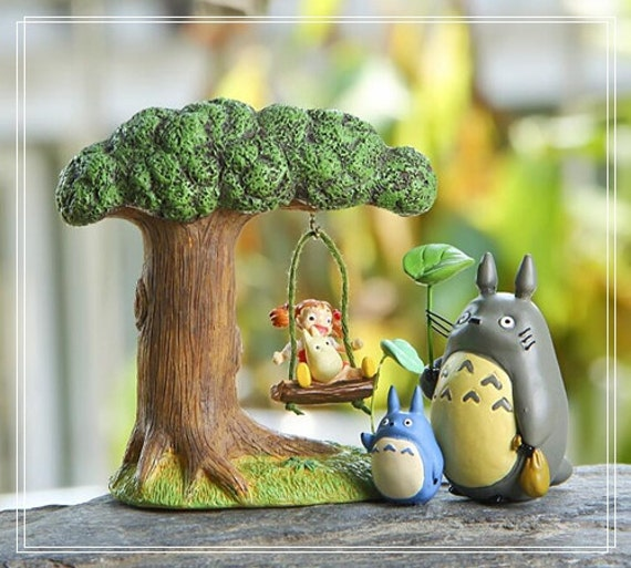 Tree Swing Mei Totoro Fairy Garden Accessories Home Decor | Etsy