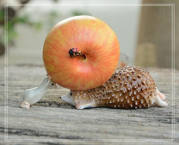 Pomme hérisson figure jouet maison decor bureau chambre à coucher