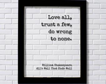 Love All Trust A Few Etsy