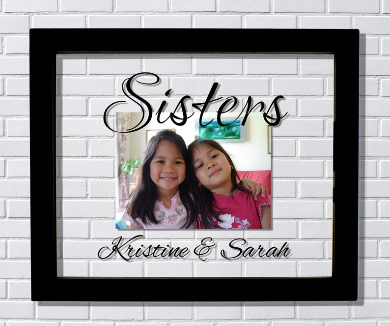 Brothers Frame -Floating Frame Family Photo Picture Frame Customized Sister Sibling Twin Sisters Frame Personalized Custom Names