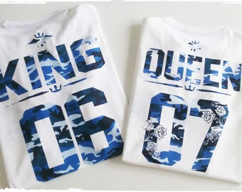 King and Queen Couple shirts King queen shirts King and Queen couples shirts King and Queen couples shirts