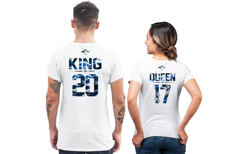 47b25c23e79e Correspondance des couples chemises chemises de Couple roi