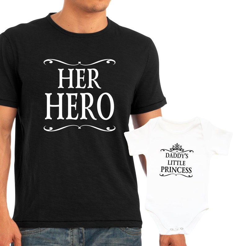 5128708d Daddy's Little Princess Her Hero shirts Matching Dad and | Etsy