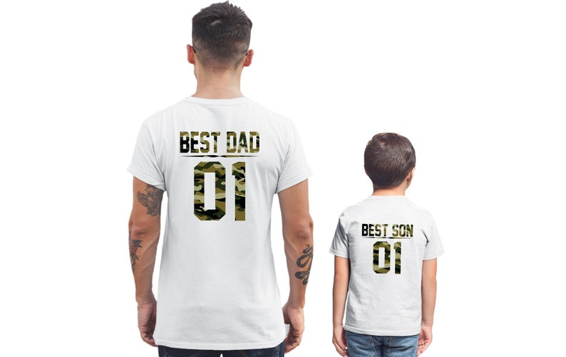 69c71657a Best Dad Best Son t shirts Father Son shirts Best Dad shirt | Etsy