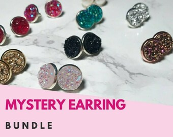 Druzy Mystery Bundle (3pair)