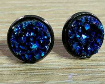 Cobalt Blue Druzy