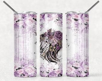 Purple Horse Skull Tumbler