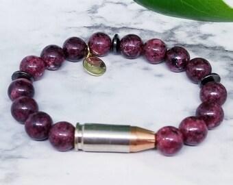 Cabernet 9mm Bullet Bracelet