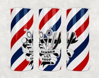 Barber Pole Wrap 20oz PNG Digital Download