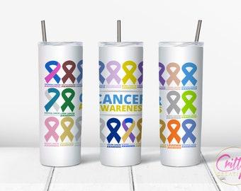 Cancer Awareness Wrap 20oz PNG Digital Download
