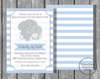 Baby Shower Invitation / Baby Shower Invitation Gender Neutral / Printable Baby Shower Invitation / Animal Baby Shower Invitation