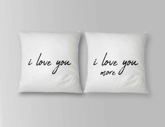 Love pillow cover Couple pillows | Etsy