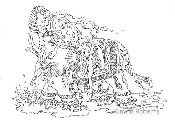 Elefante de agua: Atención plena relajación tranquila sin | Etsy
