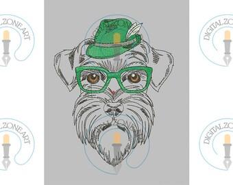 Schnauzer Dog Embroidery Design-Schnauzer Dog-Machine Embroidery Designs - INSTANT DOWNLOAD