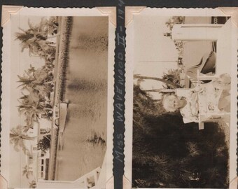 vintage photos on album page