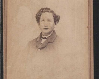 waverly ohio carte de visite or cdv vignette of young man curly hair