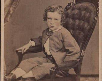 philadelphia boy from 1800s cdv antique photo cdv carte de visite