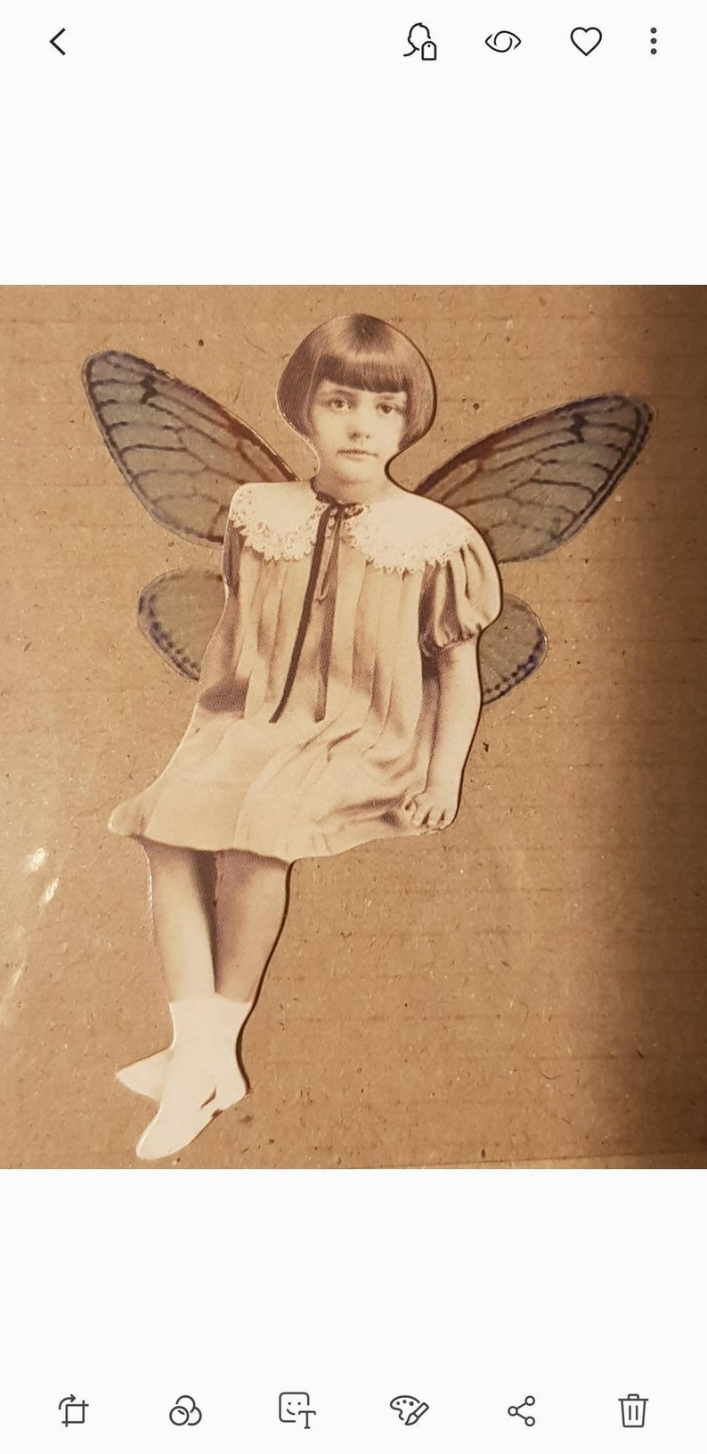 Vintage mixed media Christmas fairies fairy decoration