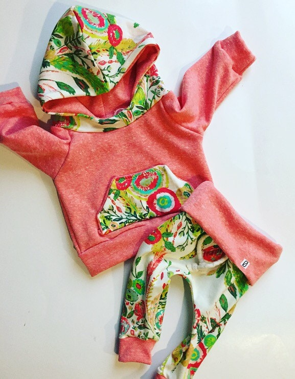 Baby girl clothes baby girl outfit orange baby outfit   Etsy