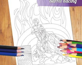 Equestrian Adult Coloring Page