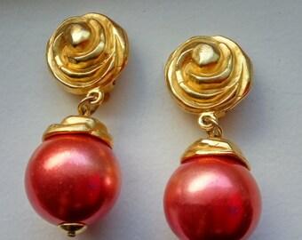 Vintage Signed Poggi Paris Clip Earrings - FREE SHIPPING