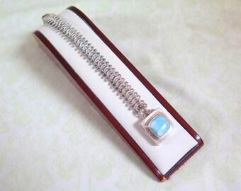 Sky Blue Sterling Silver Bracelet