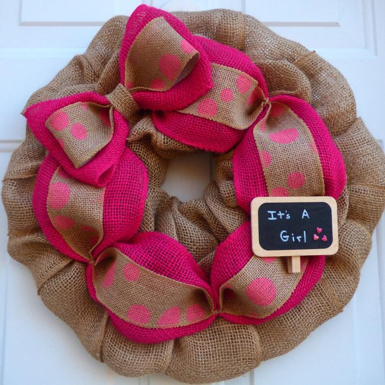 Its A Girl Wreath Baby Girl Wreath For Hospital Door Hanger Etsy