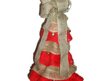 Christmas Tree/ Burlap Christmas Tree/ Mini Christmas Tree/Christmas Home Decor/Christmas Decorations/Artificial Christmas Tree/Burlap Decor
