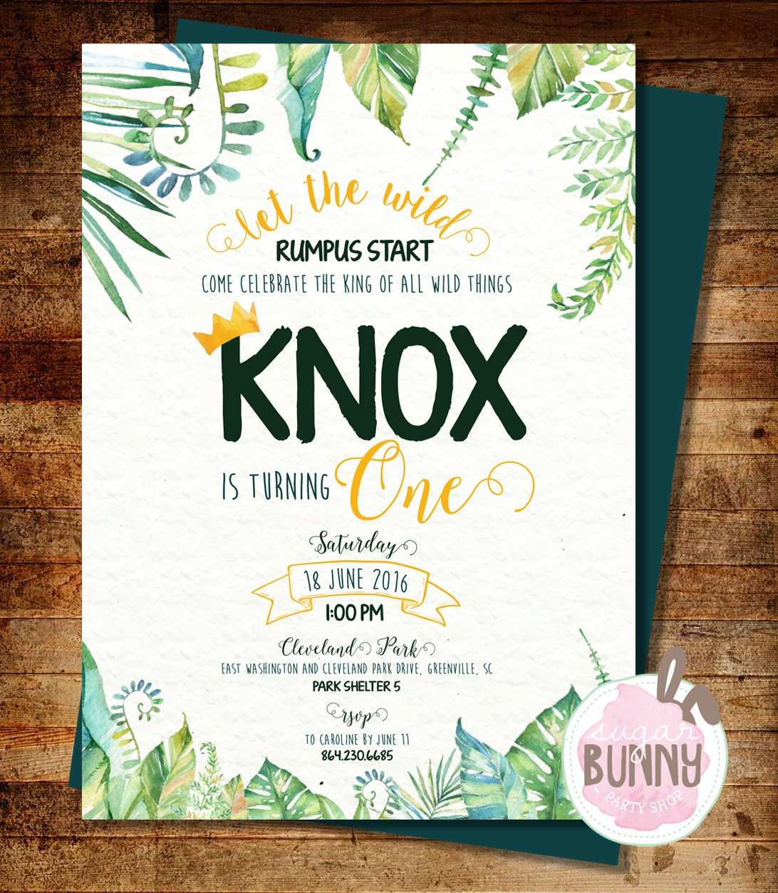 Printable Where The Wild Things Are 1st Birthday Or Baby
