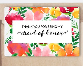 Thank you for being my Bridesmaid, Maid of Honor, Matron of Honor, Bridesmaid Gift Stickers, Bridesmaid Gift Labels k25