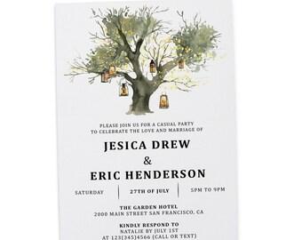 Elopement Reception Invitation Cards Wedding Reception Etsy