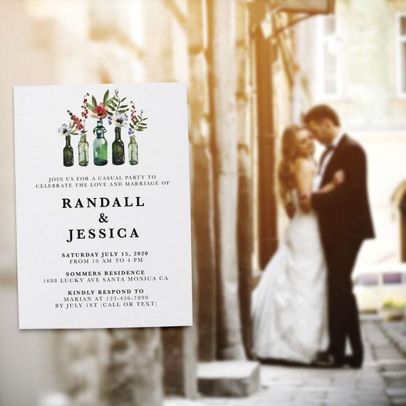 Casual Wedding Reception Invitation Cards B Loveateverysight Marriage Reception Card Amazing Invitation Set Rustic Bottle Theme 306