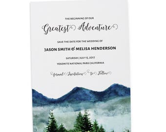 Great Adventure Save the Date , Save the Date Cards, Personalized Save the Date Cards #30