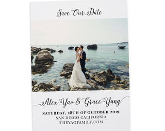 Simple Save the Date , Save the Date Cards, Personalized Save the Date Cards #23