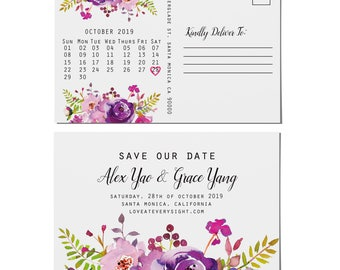 Save the Date Postcards, Wedding Save the Date Post Cards, Save the Date Cards std25