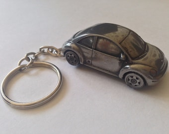 VW New Beetle ref302 FULL CAR on a split-ring keyring f9aca85136