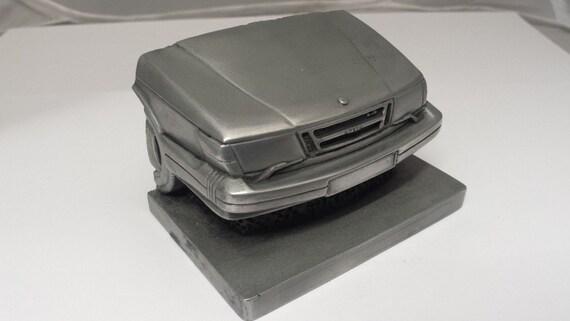 Saab 900 Pewter Effect Car Pen Holder Business Card Holder Etsy