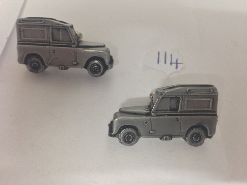 Land Rover Series 3 86WB 3D cufflinks classic car pewter effect ref114