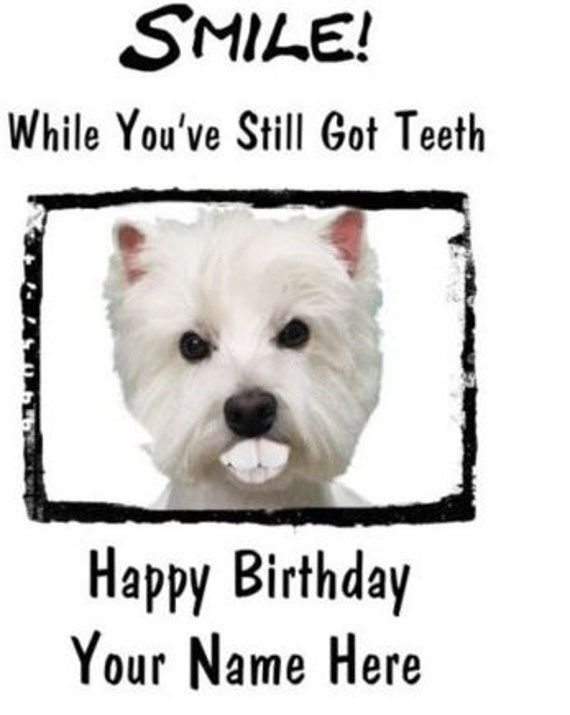 Westie A5 Personalised Happy Birthday Greeting Card Pid001 From