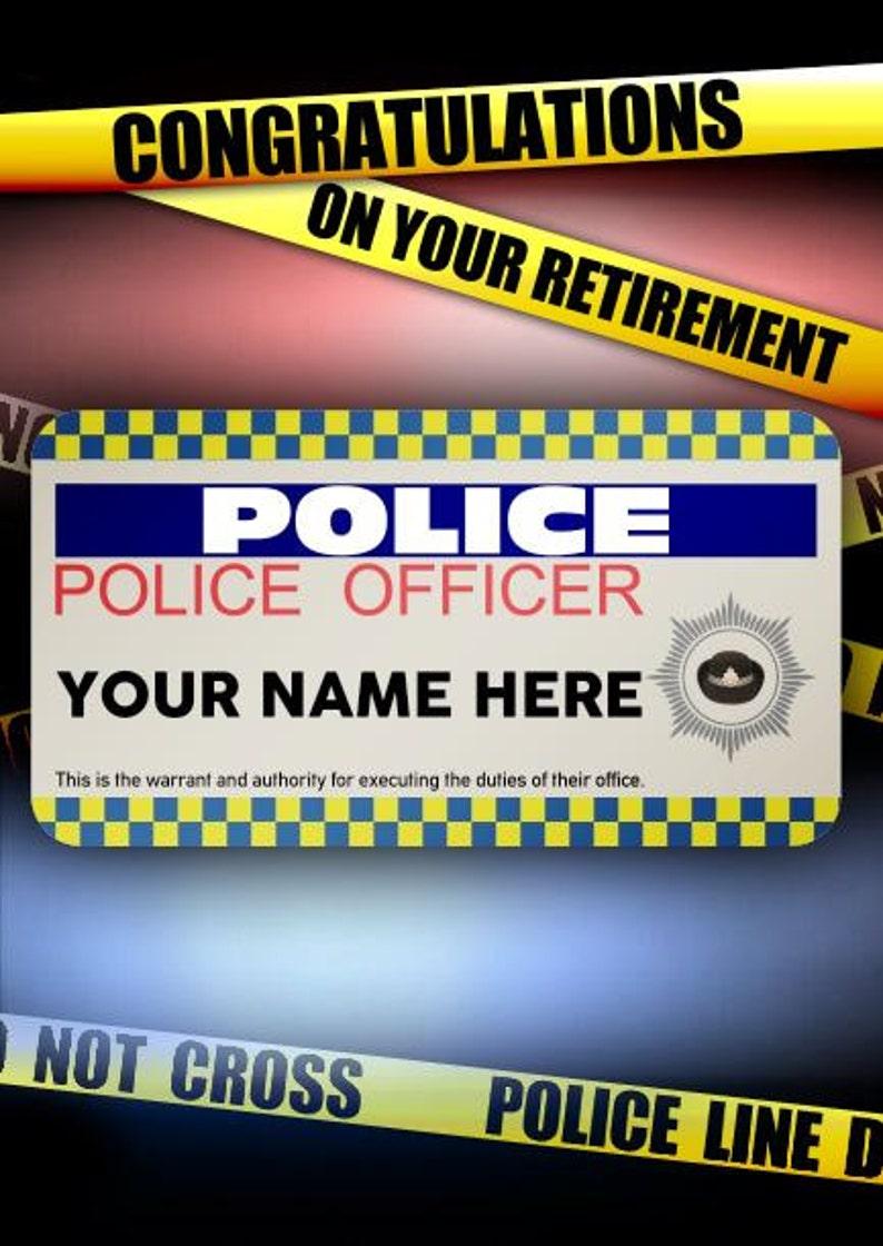La Policia Oficina Hombre Mujer Feliz Jubilacion Cumpleanos Etsy