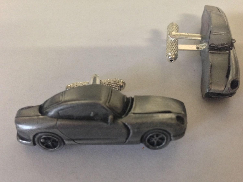 Tvr Cerbera 3d Cufflinks Classic Car Pewter Effect