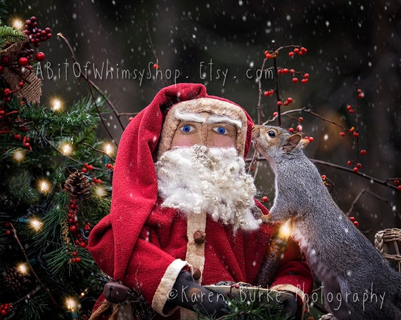 Christmas Squirrel.Christmas Squirrel Photography Print Holiday Wall Art Squirrel Lover Christmas Decor Christmas Wish Magical Art Funny Animals Secret