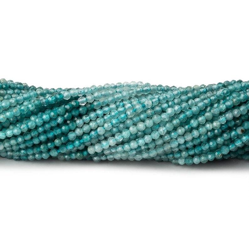 Natural Gradidierite 1.8mm Rare Grandidierite Faceted Round Beads A Grade
