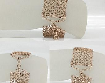 18k rose gold Handmade Mesh Bracelet
