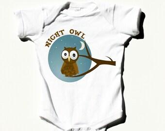66e73ebf6 Night Owl Onesie/ Cute/ Adorable / Unisex babies/ FTM/ Gift