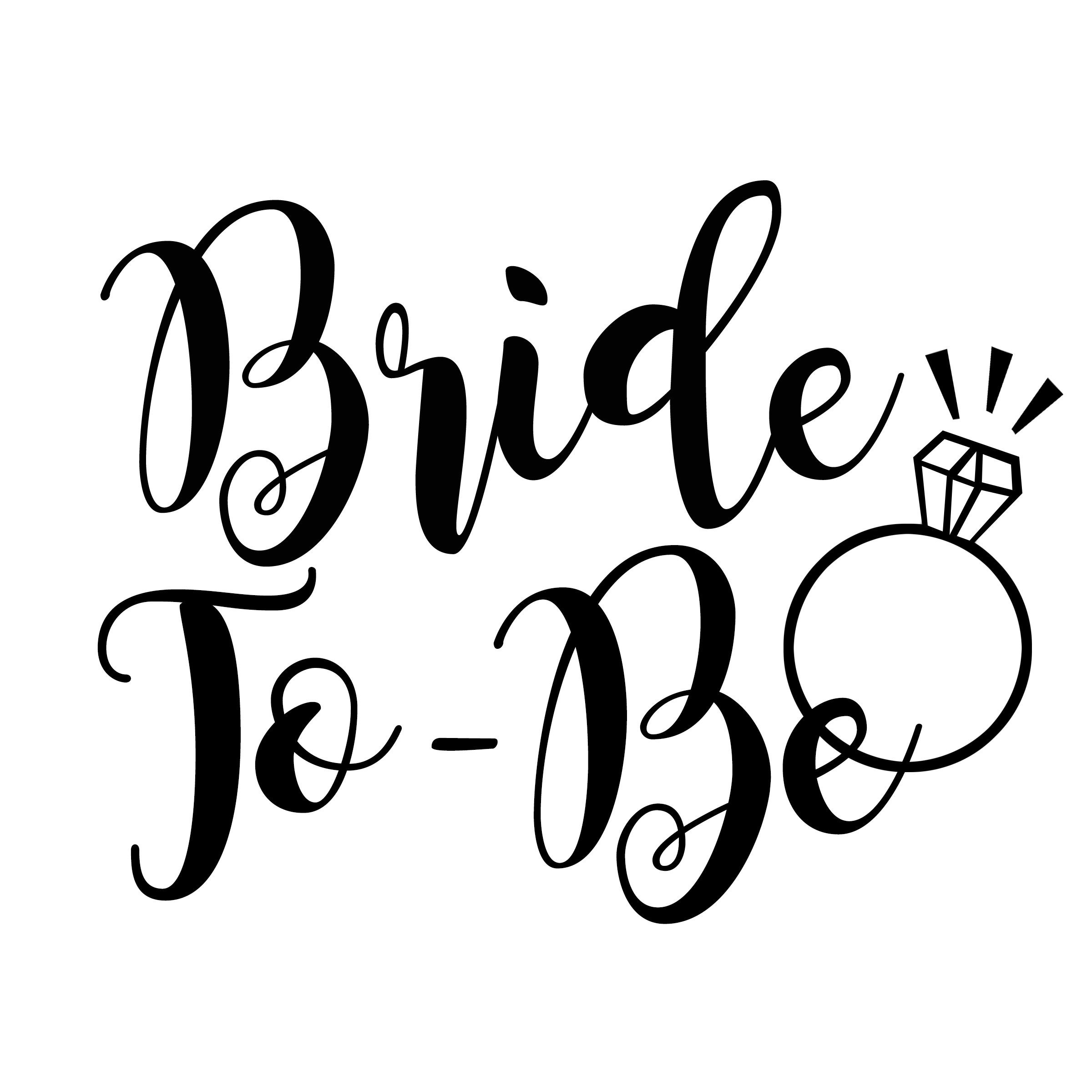 Bride To Be PNG File Cut File for Vinyl Iron On Cricut | Etsy