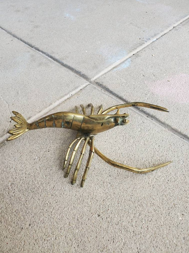 Vintage Large Brass Lobster 11 inches by 6.5 inches Restaurant or office L@@K! Wonderful addition to your Kitchen